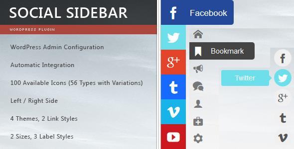 Plugin floating socialbar